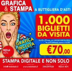 Offerta del mese per grafica e stampa di 1000 biglietti da visita