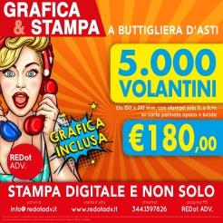 Offerta del mese per grafica e stampa di 5000 volantini